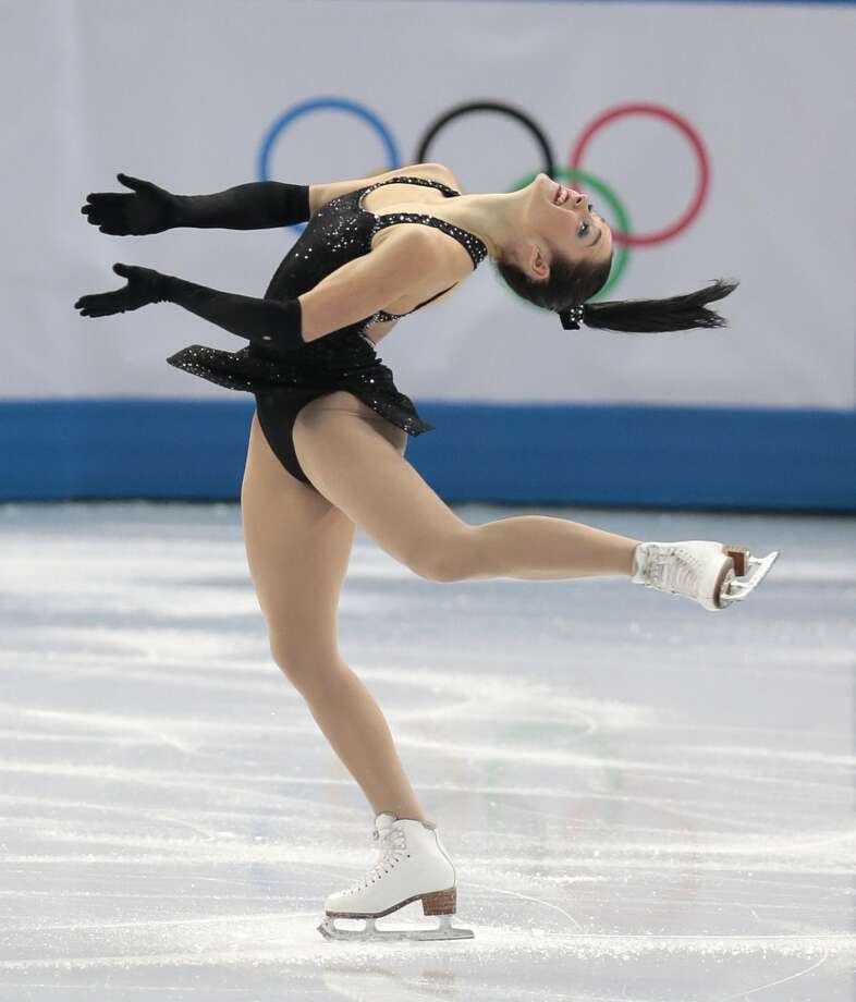 Kaetlyn Osmond of Canada competes in the women's team short program figure skating competition at the Iceberg Skating Palace during the 2014 Winter Olympics, Saturday, Feb. 8, 2014, in Sochi, Russia. (AP Photo/Ivan Sekretarev) Photo: Associated Press