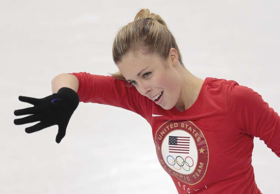 Ashley Wagner, of the United States, skates at the figure stating practice rink ahead of the 2014 Winter Olympics, Wednesday, Feb. 5, 2014, in Sochi, Russia. (AP Photo/Ivan Sekretarev) Photo: Associated Press