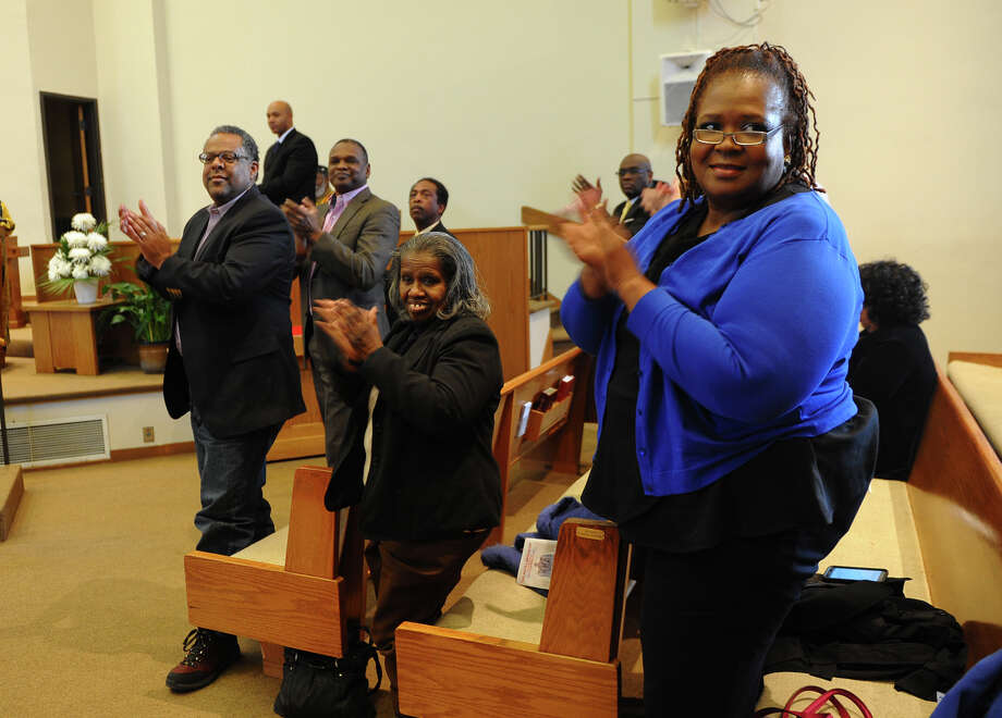 "A Juneteenth Black History Month Worship Service was held at Mount Aery Baptist Church in Bridgeport, Conn. on Saturday February 8, 2014. The celebration included dance, local gospel choirs, vocalists and speaker Dr. Charles L. Stallworth of East End Baptist Church in Bridgeport. Stallworth, a native of Alabama, gave a speech entitled: ""Emancipation Proclamation and the Civil Rights Movement."" Photo: Christian Abraham / Connecticut Post"