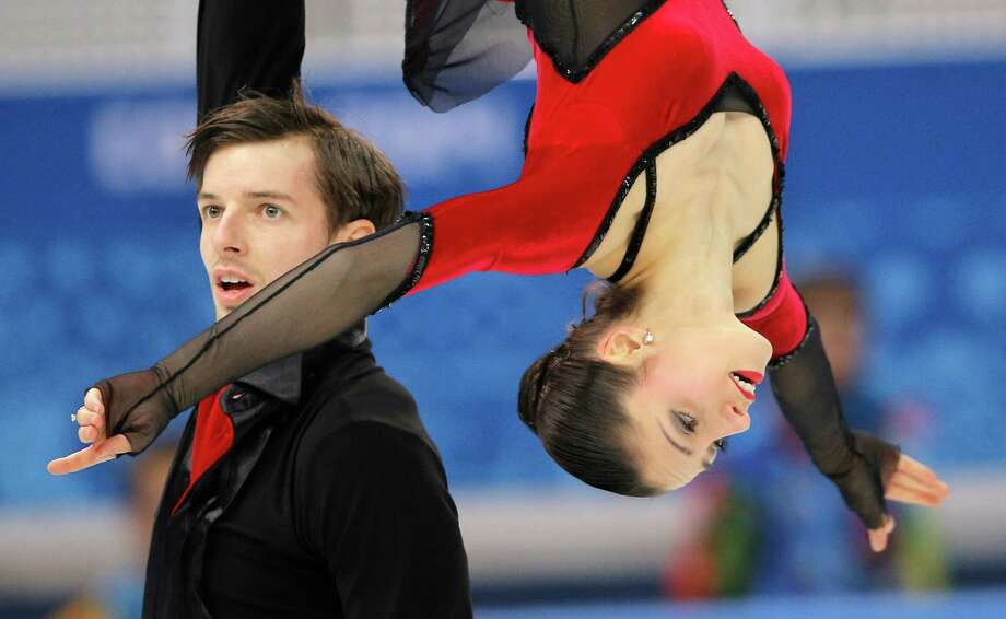 Stefania Berton and Ondrej Hotarek of Italy compete in the team pairs free skate figure skating competition at the Iceberg Skating Palace during the 2014 Winter Olympics, Saturday, Feb. 8, 2014, in Sochi, Russia. (AP Photo/Vadim Ghirda) Photo: Vadim Ghirda, Associated Press / AP