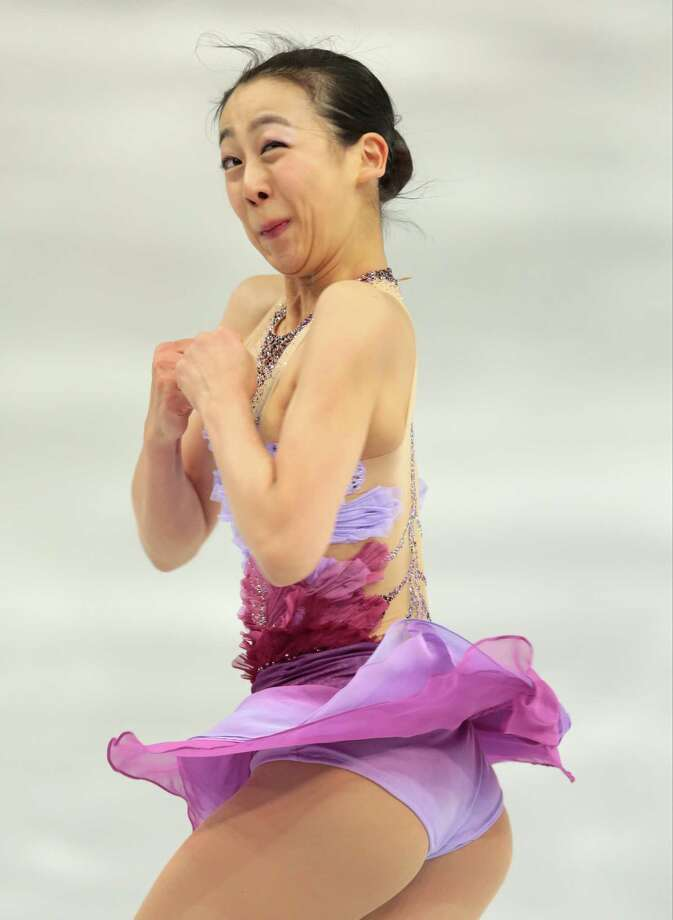 Mao Asada of Japan competes in the women's team short program figure skating competition at the Iceberg Skating Palace during the 2014 Winter Olympics, Saturday, Feb. 8, 2014, in Sochi, Russia. (AP Photo/Ivan Sekretarev) Photo: Ivan Sekretarev, Associated Press / AP