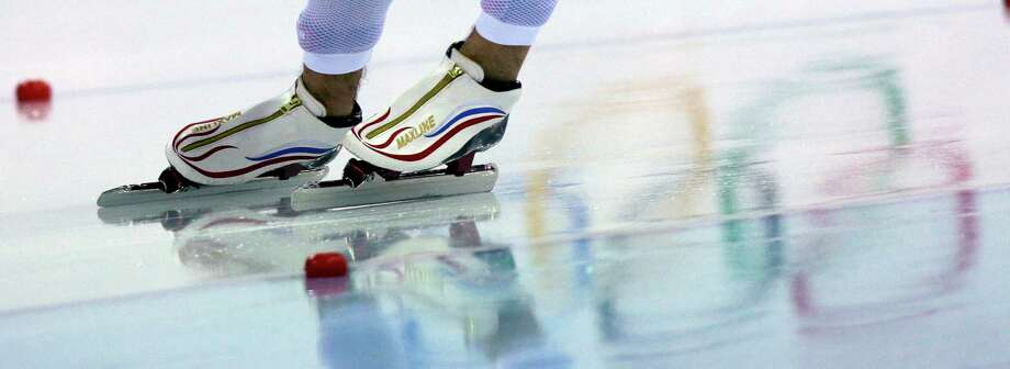 Russia's Denis Yuskov competes in the men's 5,000-meter speedskating event at the 2014 Winter Olympics, Saturday, Feb. 8, 2014, in Sochi, Russia. (AP Photo/David J. Phillip ) Photo: David J. Phillip, Associated Press / AP