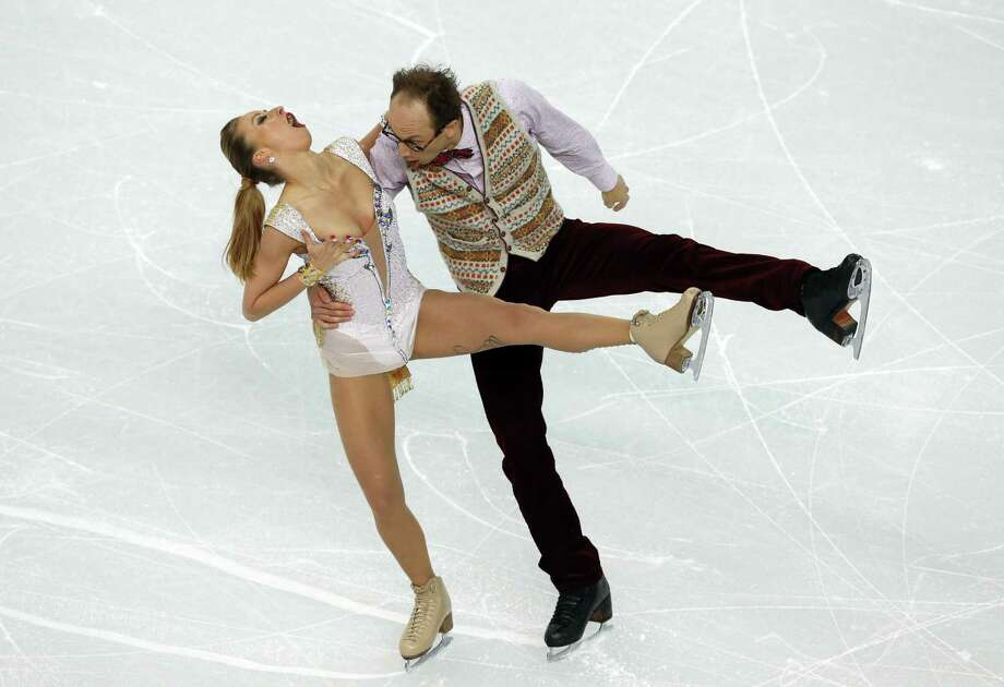 Germany's Nelli Zhiganshina and Germany's Alexander Gazsi perform in the Figure Skating Team Ice Dance Short Dance at the Iceberg Skating Palace during the Sochi Winter Olympics on February 8, 2014. Photo: ADRIAN DENNIS, AFP/Getty Images / AFP