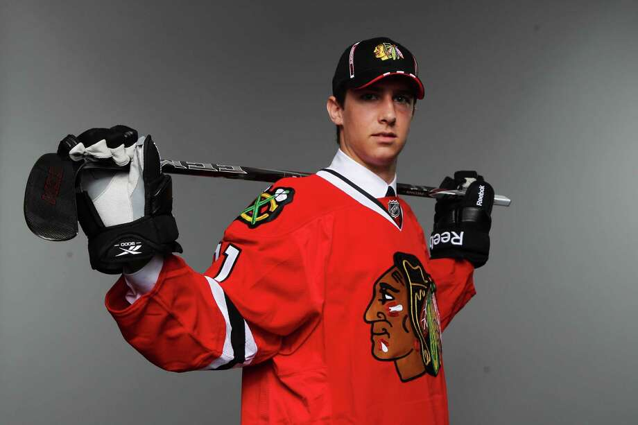 ST PAUL, MN - JUNE 25:  70th overall pick Michael Paliotta by the Chicago Blackhawks poses for a portrait during day two of the 2011 NHL Entry Draft at Xcel Energy Center on June 25, 2011 in St Paul, Minnesota.  (Photo by Nick Laham/Getty Images) Photo: Nick Laham, ST / 2011 Getty Images