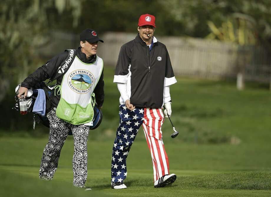 Kid Rock says he hunts turkeys and doves, but his pursuit of birdies hasn't gone well: his pro-am team is near the bottom of the AT&T scores list. Photo: Eric Risberg, Associated Press