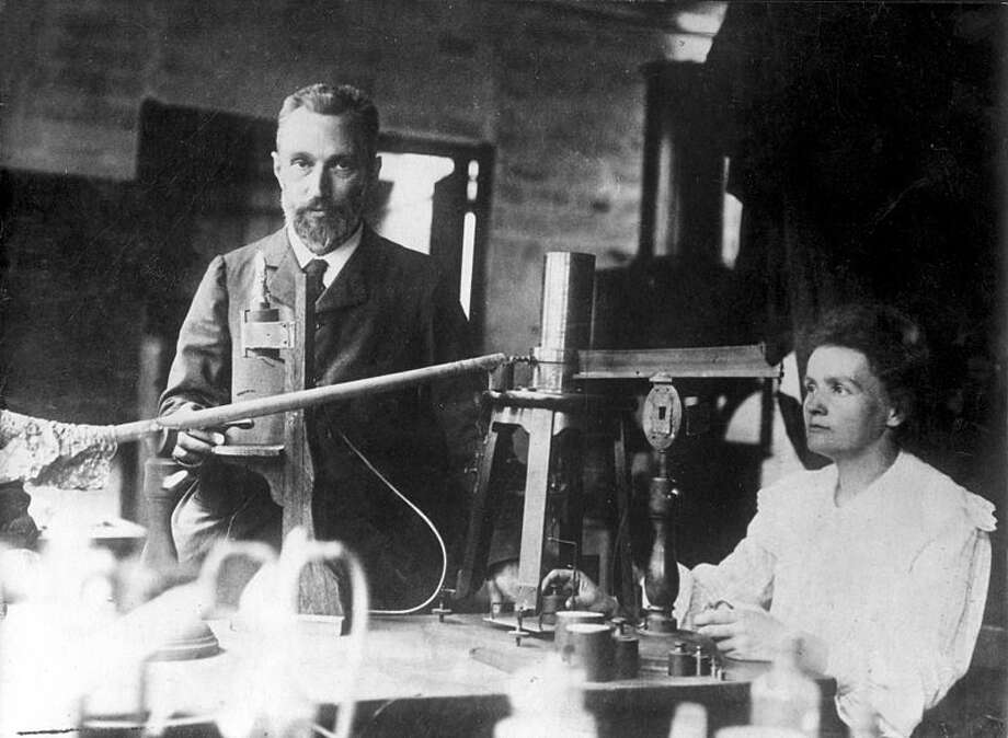 Pierre and Marie Curie best known for their pioneering work with radioactivity, no surprise since these two had chemistry radiating off of them.