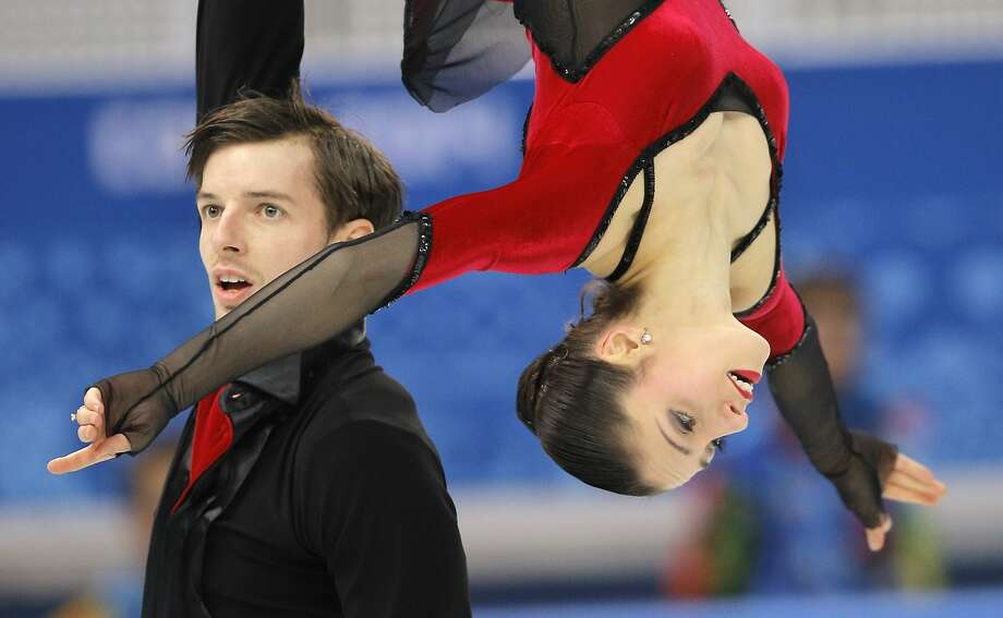 Stefania Berton and Ondrej Hotarek of Italy compete in the team pairs free skate figure skating competition at the Iceberg Skating Palace during the 2014 Winter Olympics, Saturday, Feb. 8, 2014, in Sochi, Russia. (AP Photo/Vadim Ghirda) Photo: Vadim Ghirda, Associated Press
