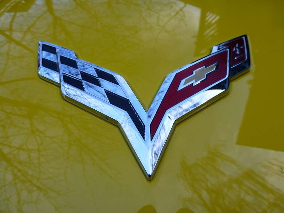The Corvette's logo.