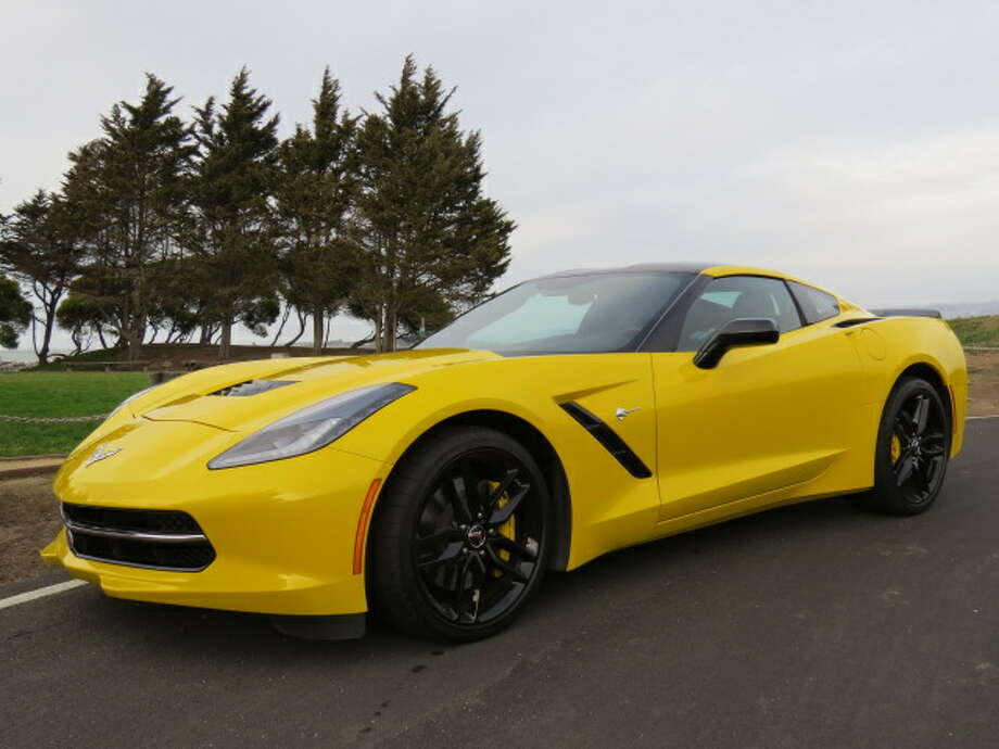 The 2014 Chevrolet Corvette Stingray. The car has a base price of under $52,000 and will compete favorably with cars costing nearly twice as much. (All photos by Michael Taylor)