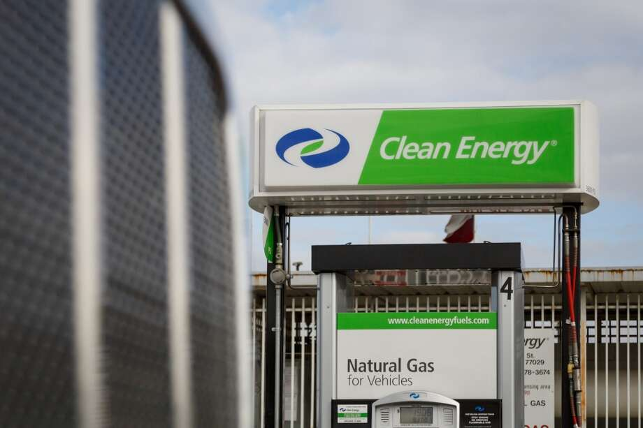 A natural gas station owned by Clean Energy is shown on Friday, Jan. 31, 2014, in Houston. Photo: Michael Paulsen, Houston Chronicle