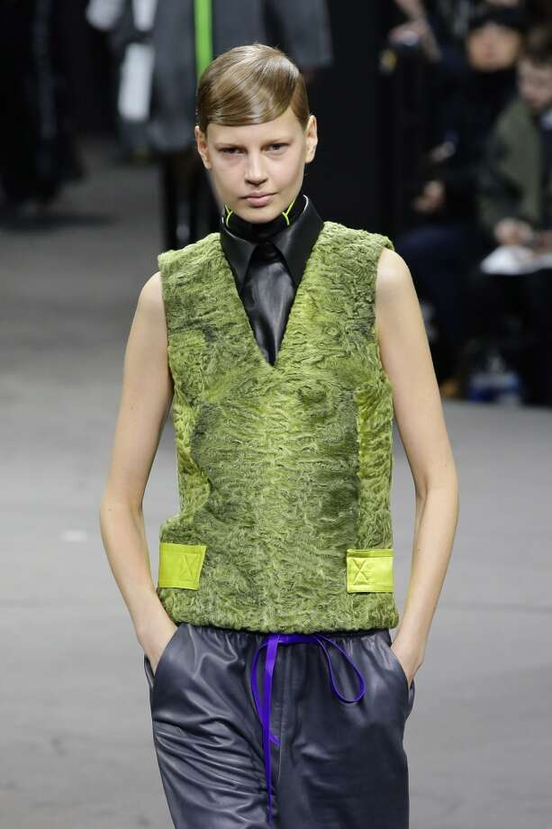 Citric green was part of Alexander Wang's palette. Photo: Neilson Barnard, Getty Images