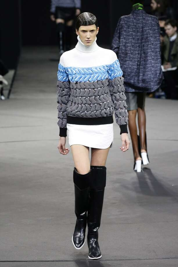 NEW YORK, NY - FEBRUARY 08:  A model walks the runway at the Alexander Wang presentation during Mercedes-Benz Fashion Week Fall 2014 at the Duggal Greenhouse on February 8, 2014 in the Brooklyn borough of New York City.  (Photo by Neilson Barnard/Getty Images) Photo: Neilson Barnard, Getty Images