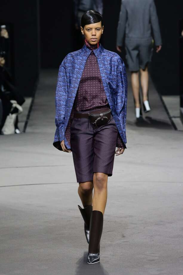 A model walks the runway at the Alexander Wang show. Photo: Neilson Barnard, Getty Images
