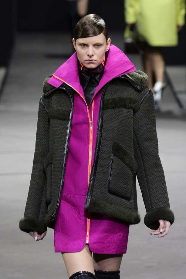 A layered look at the Alexander Wang runway show. Photo: Neilson Barnard, Getty Images