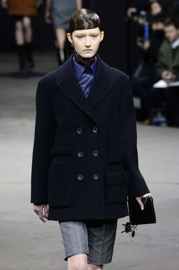 Oversize peacoats were among the looks at Alexander Wang's presentation  at the Duggal Greenhouse on February 8, 2014 in the Brooklyn borough of New York City.  (Photo by Neilson Barnard/Getty Images) Photo: Neilson Barnard, Getty Images
