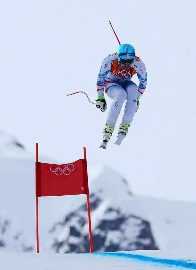 Matthias Mayer of Austria edged Christof Innerhofer of Italy to take the gold. Photo: Alexander Hassenstein, Getty Images