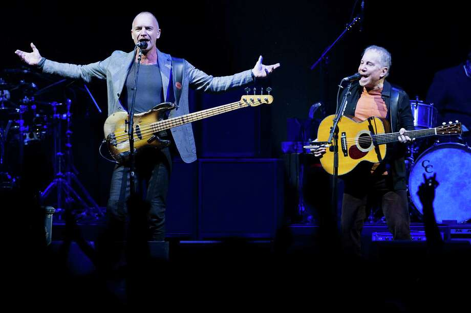 Paul Simon's performance with Sting on Saturday at the Toyota Center was seamless in a surprising, timeless way. Photo: Smiley N. Pool, Staff / © 2014  Houston Chronicle