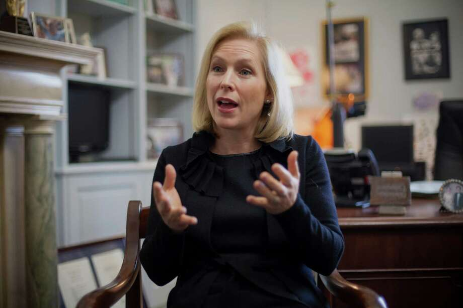 U.S. Sen. Kirsten Gillibrand, D-N.Y., is scheduled to kick off a speaker series in Houston next month hosted by the Harris County Democratic Party. The series will feature Democratic presidential candidates. Photo: J. Scott Applewhite, STF / AP