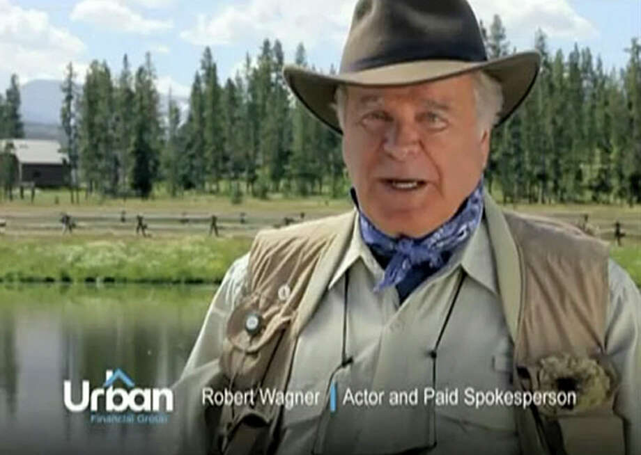Robert Wagner represents Urban Financial Group in and undated handout screen grab. There is a growing demand for no-longer-ready-for-prime-time celebrities willing to vouch for products in ads often shown during reruns of movies and TV shows they made during their salad days. (Urban Financial Group via The New York Times) Photo: URBAN FINANCIAL GROUP / URBAN FINANCIAL GROUP