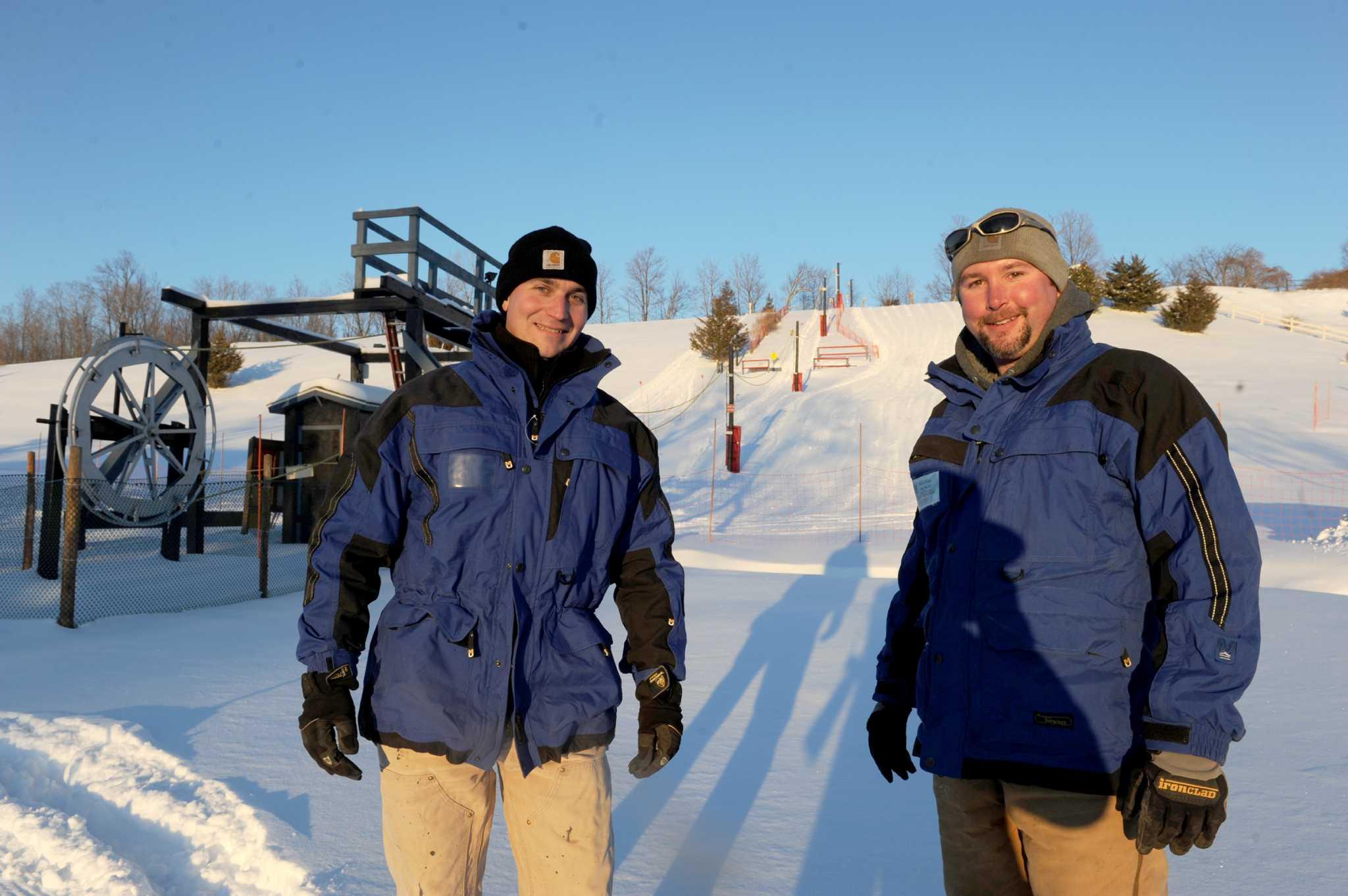 the diy ski slope of columbia county u0027s tom and mark herishko