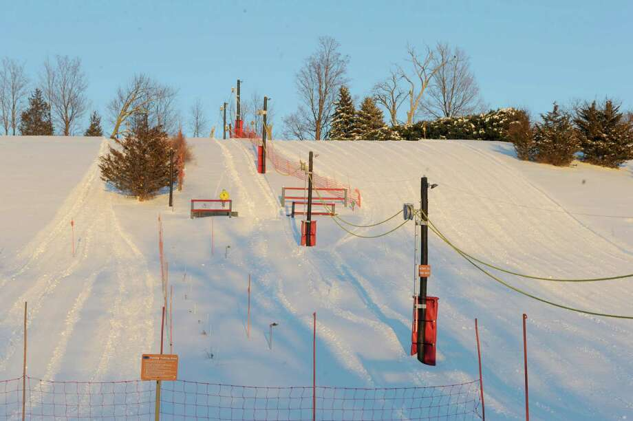 Polar Peak Ski Bowl a personal ski slope created by brothers Tom and Mark Herishko at in there backyard Thursday Feb. 6, 2014 in Taghkanic, N.Y. (Michael P. Farrell/Times Union) Photo: Michael P. Farrell / 00025659A