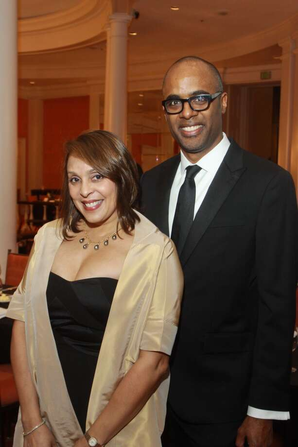 U.S. Poet Laureate and Pulitzer Prize winner Natasha Trethewey and Brett Gadsden at the 2014 Inprint Poets and Writers Ball. Photo: Gary Fountain, For The Chronicle
