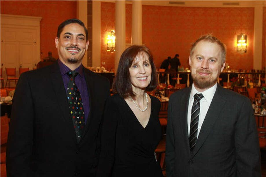 Authors David Tomas Martinez, left, Elizabeth Black and David Stuart MacLean Photo: Gary Fountain, For The Chronicle