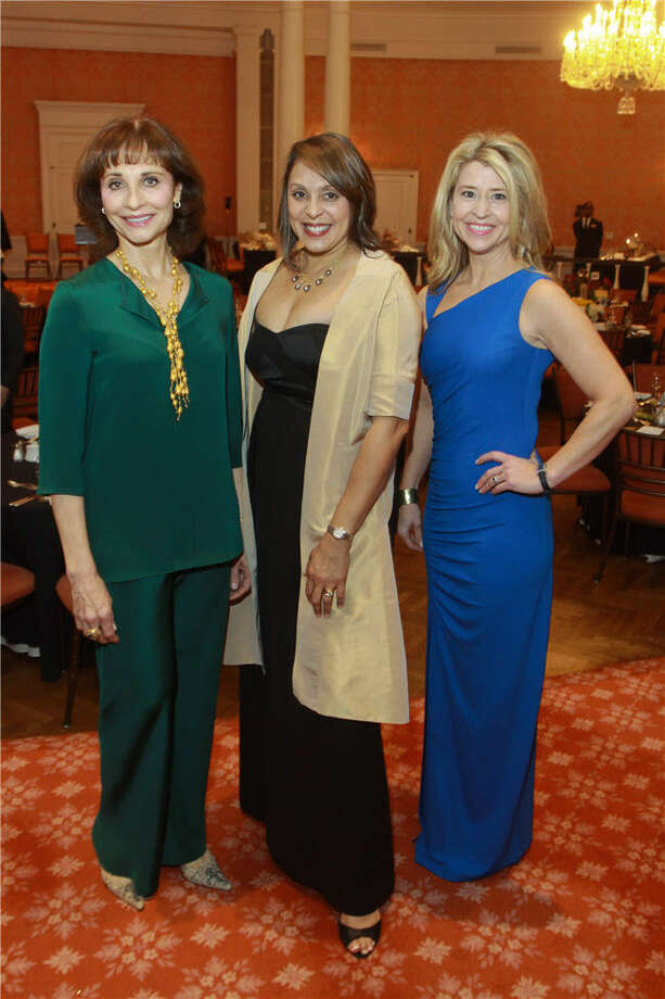 Consuelo Duroc-Danner, from left, Natasha Trethewey and Carolyn Roch Henneman Photo: Gary Fountain, For The Chronicle