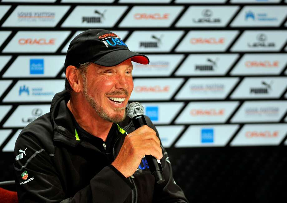We had multiple commenters say that Oracle CEO Larry Ellison could be our No. 1 celebrity. Pictured: Ellison speaks during a media conference after Oracle Team USA won the 34th America's Cup on September 25, 2013 in San Francisco. AFP PHOTO/Josh Edelson        (Photo credit should read Josh Edelson/AFP/Getty Images) Photo: AFP, AFP/Getty Images