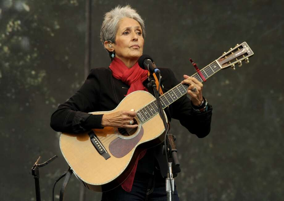 Joan Baez, a singer and champion of human rights and social justice, has lived in a home in Woodside for more than 40 years. Pictured: Baez performs as part of Hardly Strictly Bluegrass 10 in Golden Gate Park on October 2, 2010 in San Francisco, California. (Photo by Tim Mosenfelder/Getty Images) Photo: Tim Mosenfelder, Getty Images