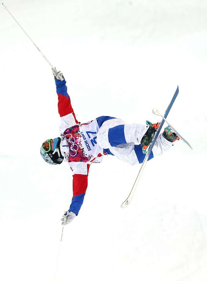 Andrey Volkov of Russia competes in the Men's Moguls Qualification on day three of the Sochi 2014 Winter Olympics at Rosa Khutor Extreme Park on February 10, 2014 in Sochi, Russia.  Photo: Cameron Spencer, Getty Images