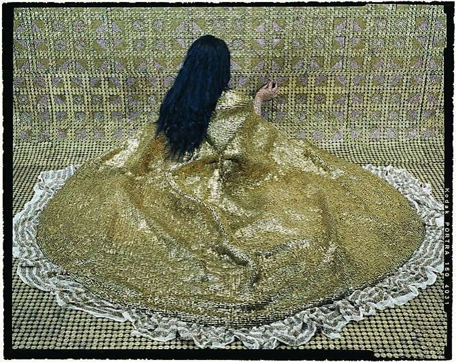 "Lalla Essaydi photograph from her show ""New Beauty."" Photo: Courtesy Of The Gallery"