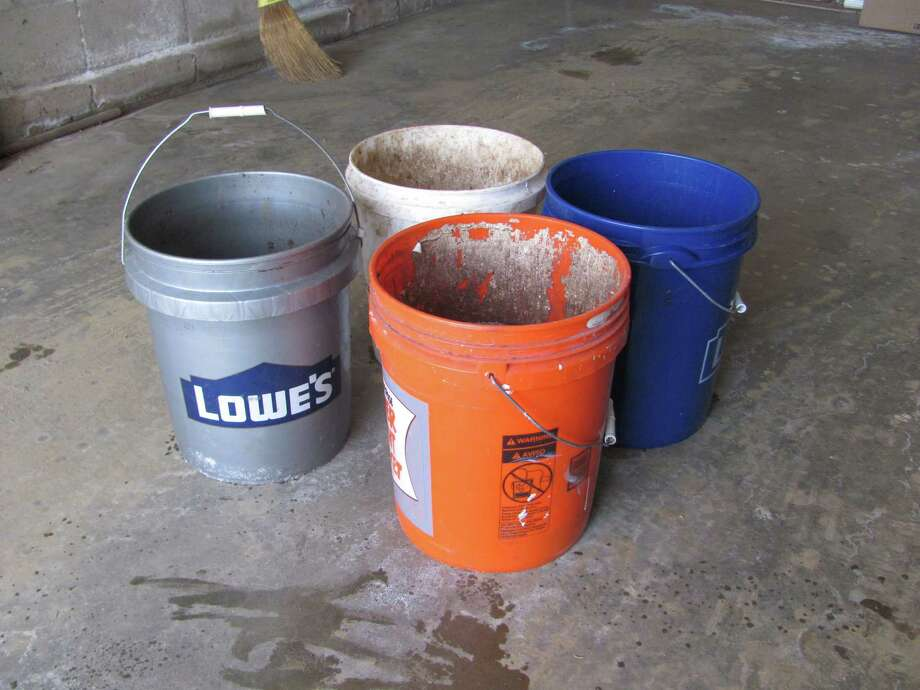 A plethora of colorful and useful pails is seen here. Photo: Contributed Photo / The News-Times Contributed