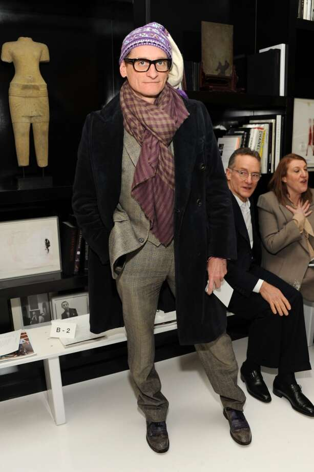 Fashion journalist Hamish Bowles attends the Ralph Rucci fashion show during Mercedes-Benz Fashion Week Feb. 9 in New York City. Photo: Ben Gabbe, Getty Images