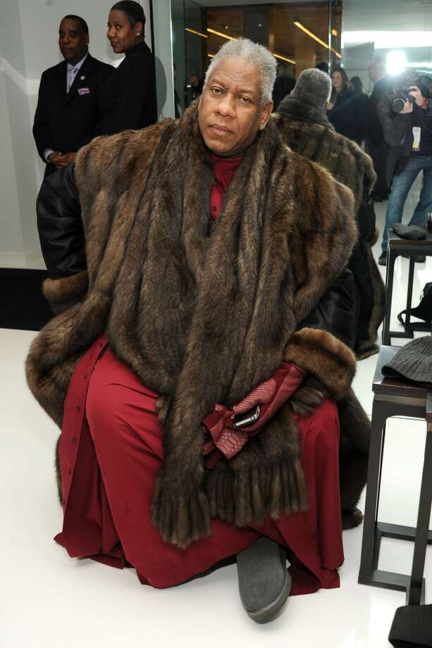 Fashion editor Andre Leon Talley attends the Ralph Rucci fashion show. Photo: Ben Gabbe, Getty Images