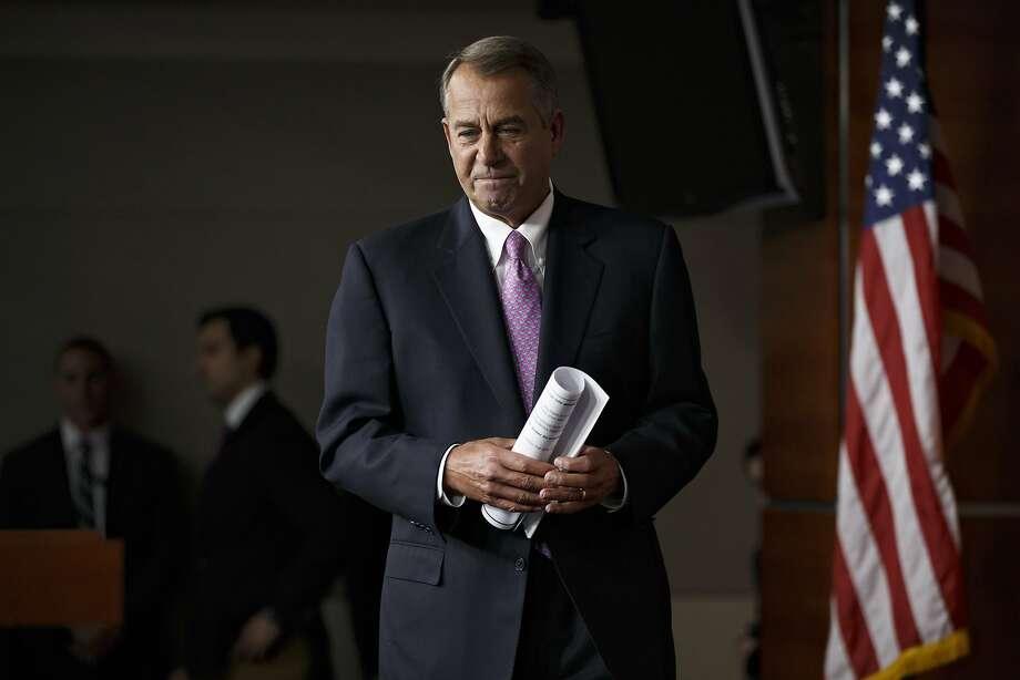 House Speaker John Boehner Photo: J. Scott Applewhite, Associated Press