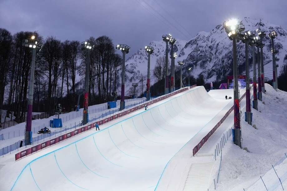 "And then there are the venue issues: Snowboarders blasted Sochi's halfpipe, calling it ""garbage"" and saying the Olympic organizers were too cheap to build a better one.  One athlete called it  ""unsalvageable.""  (Photo by Cameron Spencer/Getty Images) Photo: Cameron Spencer, Getty Images"