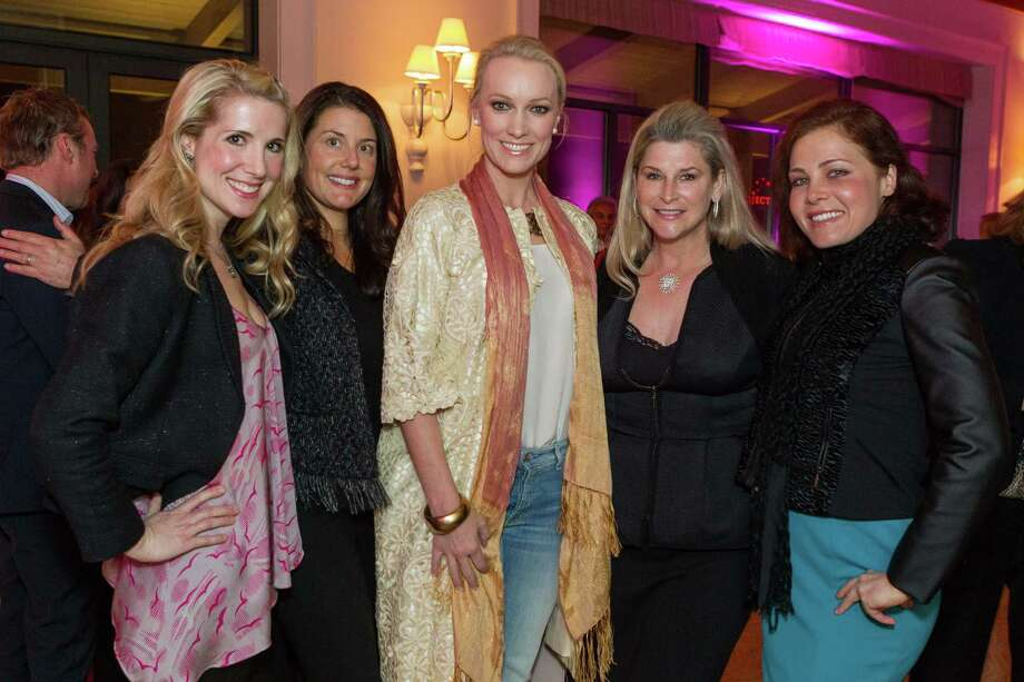 Samantha Hartwell, Carissa Ashman, Amy Andersen, Renee Coker and Tiffany Schneider at the Neiman Marcus Spring Trend Presentation on February 5, 2014. Photo: Drew Altizer Photography/SFWIRE, Drew Altizer Photography / ©2014 by Drew Altizer, all rights reserved