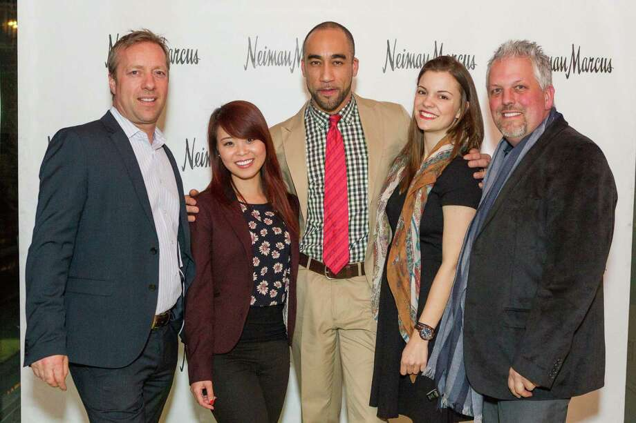 Wout Stokman, Evelyne Quach, William Collick, Andrea Lodigiani and Daryl Brown at the Neiman Marcus Spring Trend Presentation on February 5, 2014. Photo: Drew Altizer Photography/SFWIRE, Drew Altizer Photography / ©2014 by Drew Altizer, all rights reserved