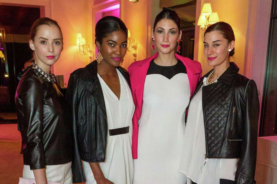 Hanna Perry, Sydney Reed, Breanne Loveland and Nicole Grinsell at the Neiman Marcus Spring Trend Presentation on February 5, 2014. Photo: Drew Altizer Photography/SFWIRE, Drew Altizer Photography / ©2014 by Drew Altizer, all rights reserved