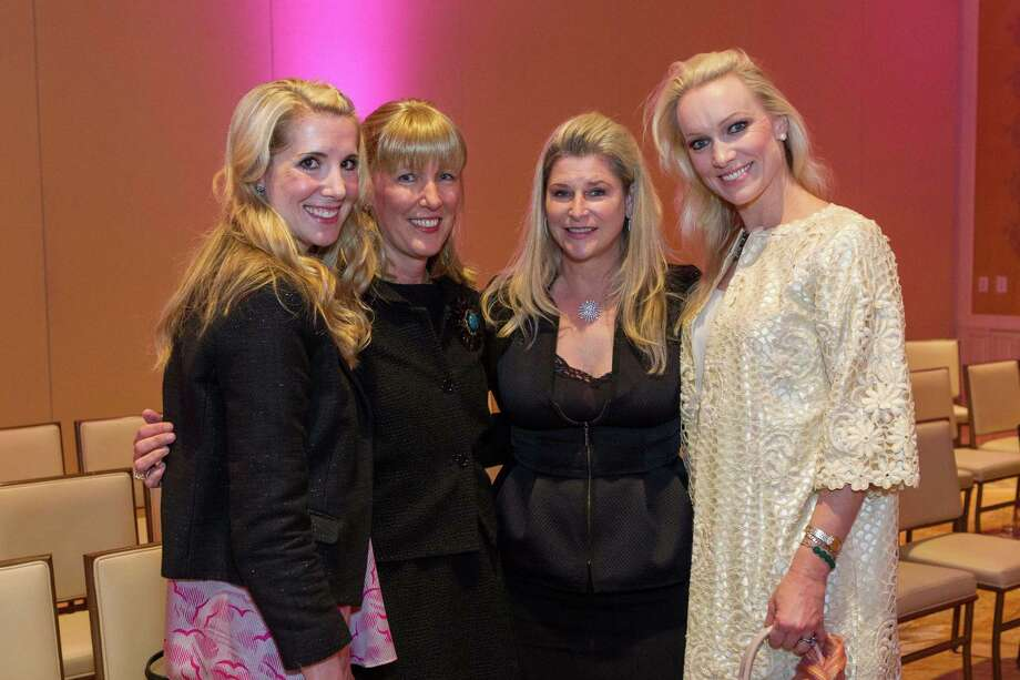 Samantha Hartwell, Sonja Perkins, Renee Coker and Amy Andersen at the Neiman Marcus Spring Trend Presentation on February 5, 2014. Photo: Drew Altizer Photography/SFWIRE, Drew Altizer Photography / ©2014 by Drew Altizer, all rights reserved