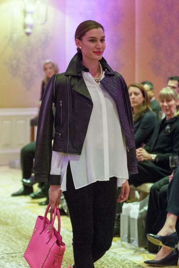 A model walks the runway during the Neiman Marcus Spring Trend Presentation on February 5, 2014. Photo: Drew Altizer Photography/SFWIRE, Drew Altizer Photography / ©2014 by Drew Altizer, all rights reserved