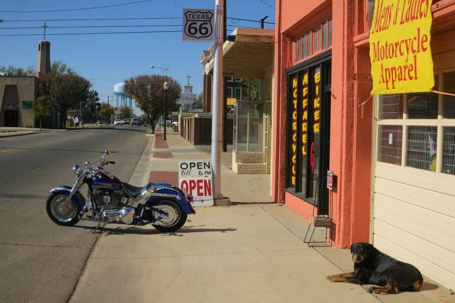 No. 34: Amarillo An Amarillo motorcycle shop recalls the open road thrills of Route 66. Photo: Joe Holley, Houston Chronicle