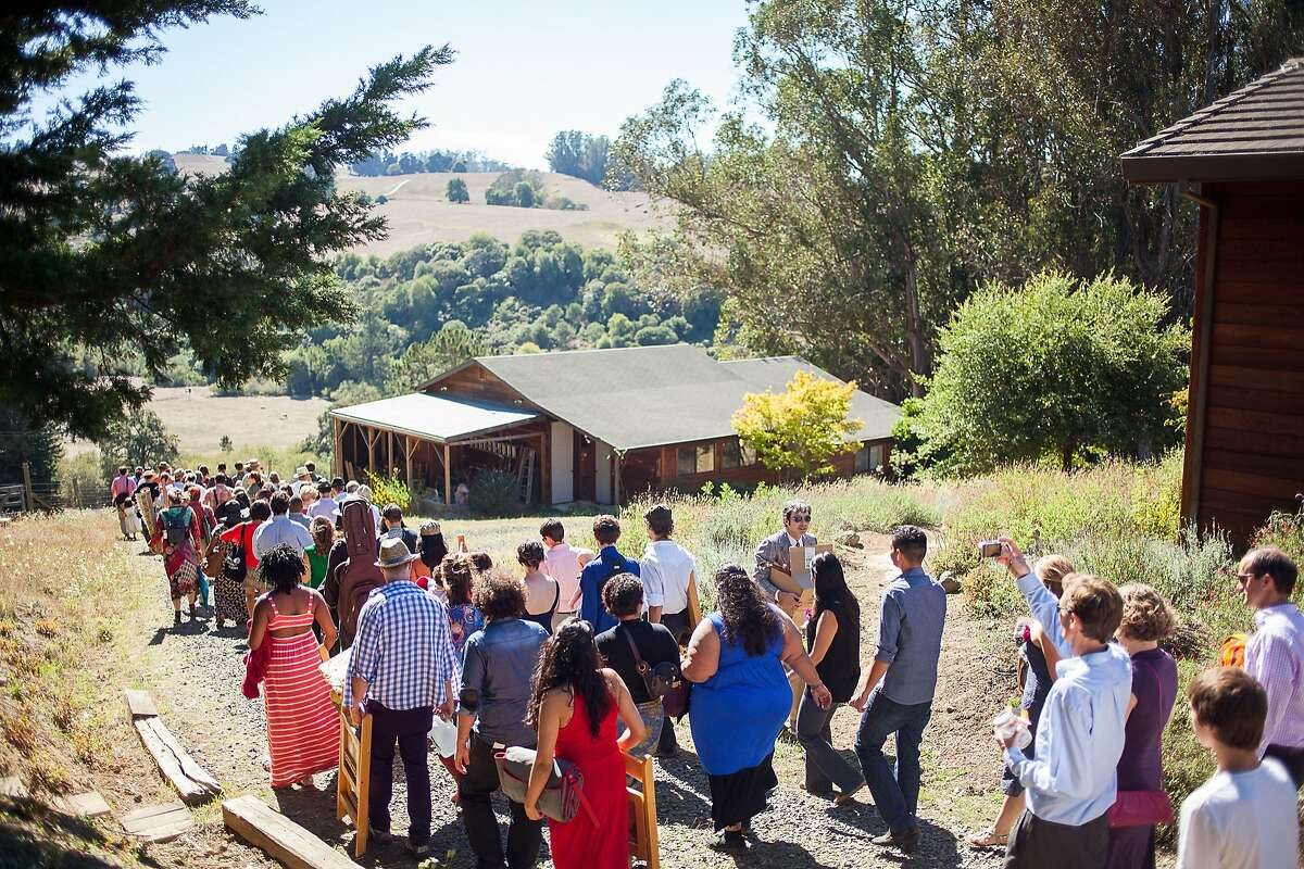 San Francisco couple Levana Saxon and Casey Harrell married Sept. 28 on a private piece of land in Sebastopol.