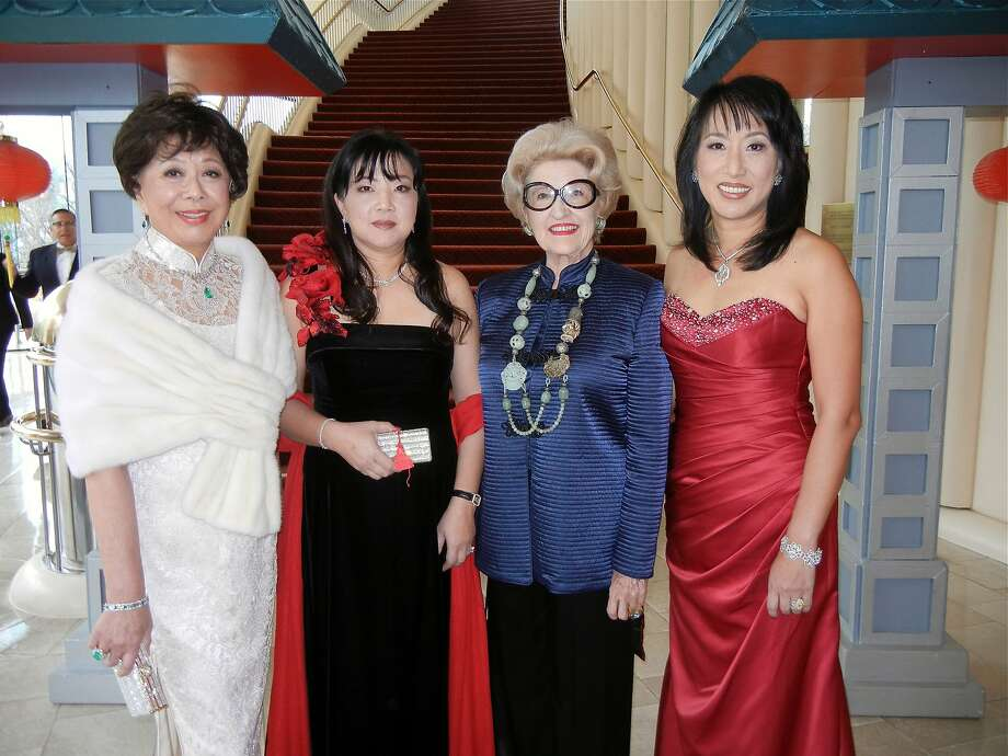 Margaret Liu Collins (left), Mindy Sun, Genelle Relfe and Sharon Juang celebrate Lunar New Year. Photo: Catherine Bigelow, Special To The Chronicle