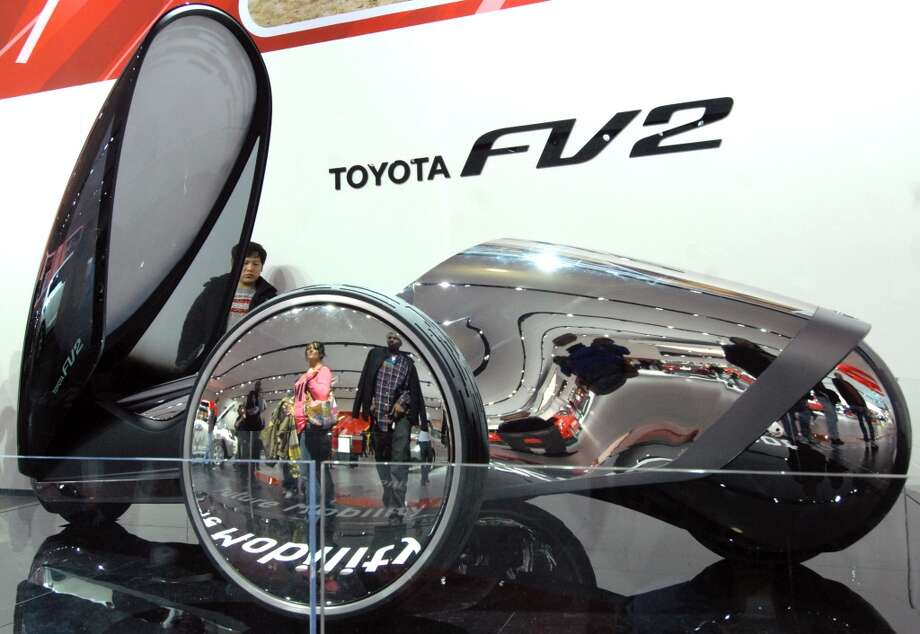 The Toyota FV2 on day one of the North American International Auto Show in Detroit, Michigan. Photo: Paul Warner, Getty Images