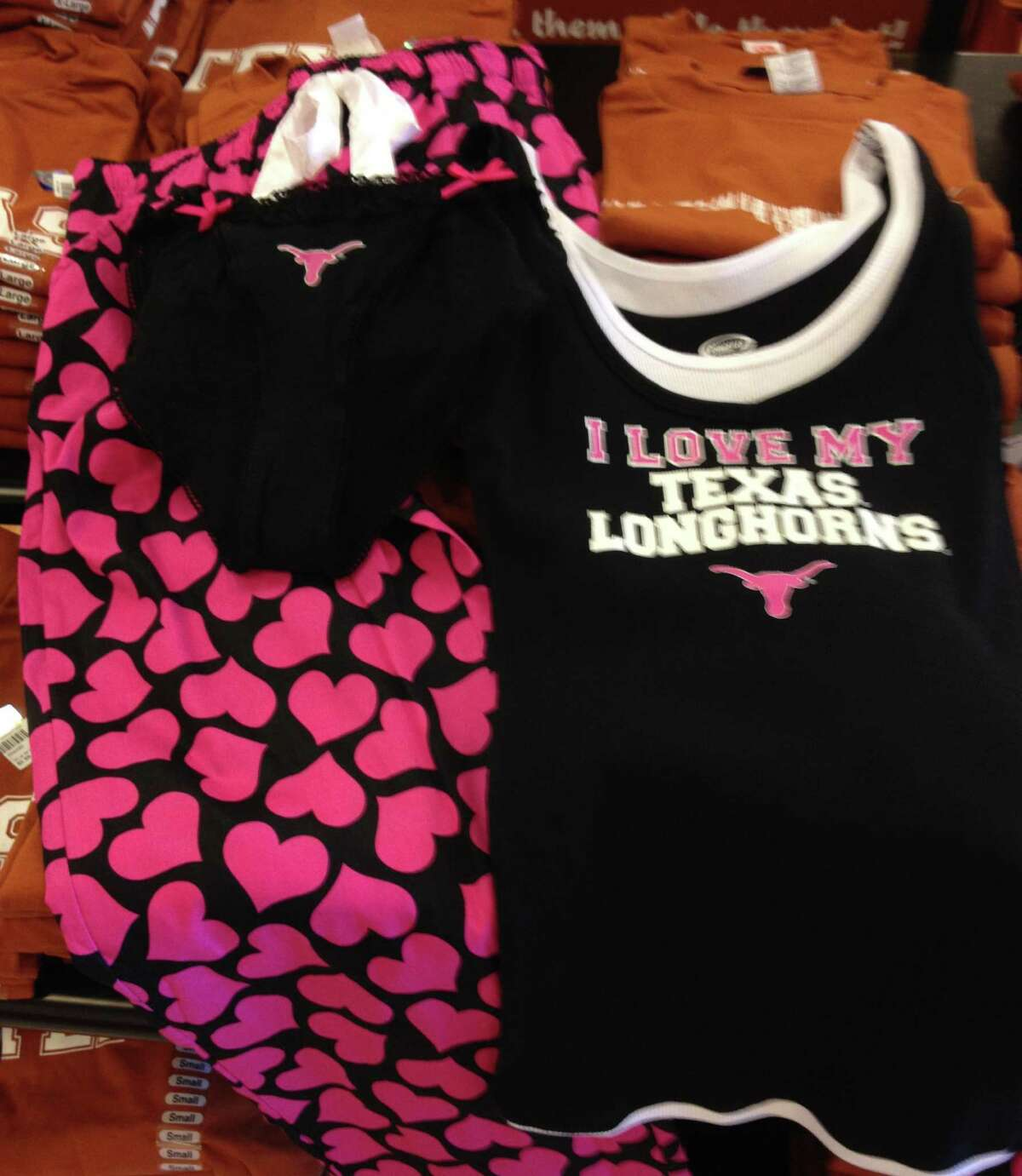 Let staff writer Richard A. Marini guide you in your search for the perfect, yet nearly late, Valentine's Day gift. Celebrate the Longhorns in - yes, we're going there - more ways than one with some sexy UT britches from the University Co-Op in The Quarry.