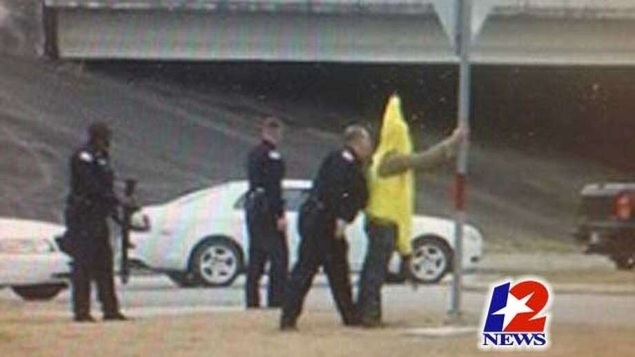 Beaumont police charge an 18-year-old found in a banana costume with an AK47. Photo: KBMT