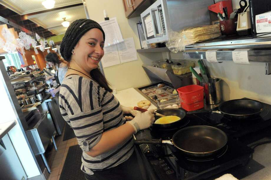 Samantha Ponzillo chef at the Spot Cafe on Saturday Feb. 8, 2014 in Saratoga Springs, N.Y. (Michael P. Farrell/Times Union) Photo: Michael P. Farrell / 00025643A