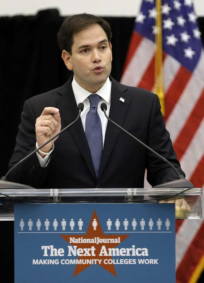 "Sen. Marco Rubio says change is needed close an ""opportunity gap."" Photo: Lynne Sladky, Associated Press"